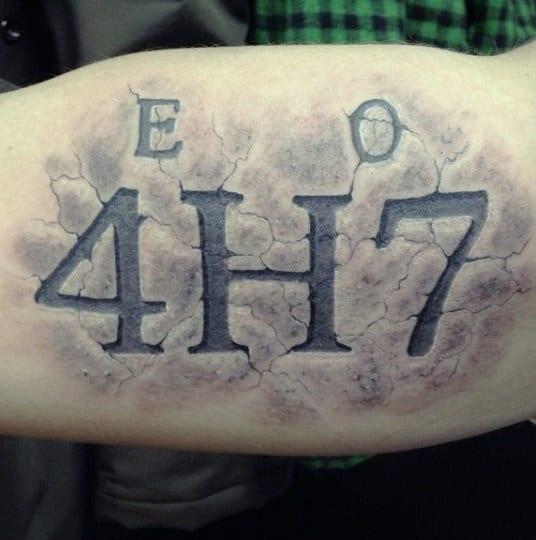 70 number tattoos for men numerical ink design ideas. Black Bedroom Furniture Sets. Home Design Ideas