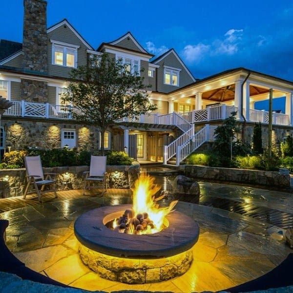 Stone Outdoor Fire Pit Ideas