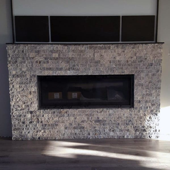 Stone Rock Interior Ideas For Fireplace Tiles