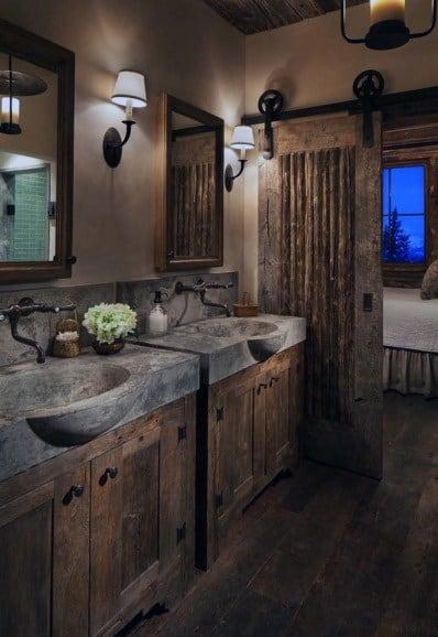 Stone Sinks Rustic Bathroom Ideas