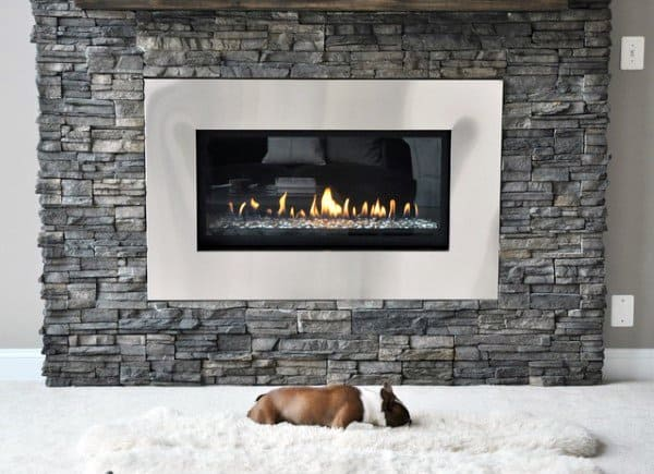 Top 70 best stone fireplace design ideas rustic rock - Stone veneer fireplace ideas ...