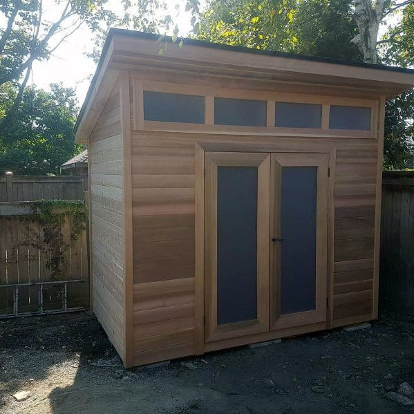 Storage Backyard Shed Ideas With Wood Siding Exterior
