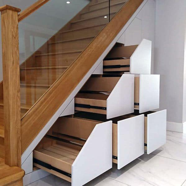 Top 70 Best Under Stairs Ideas - Storage Designs