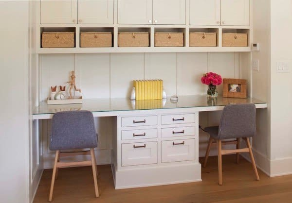 Storage Organized Built In Desk Ideas