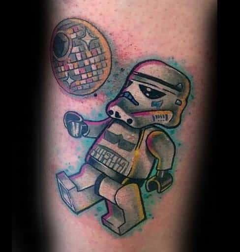 Stormtrooper Themed Disco Ball Tattoo Design Ideas For Men