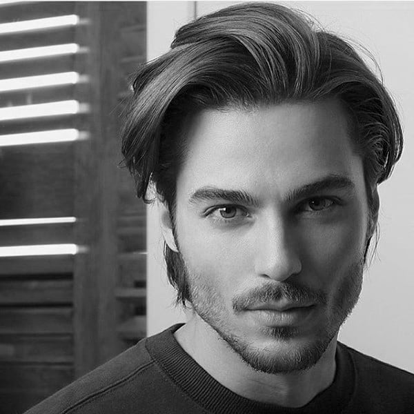 Medium Length Mens Hairstyles Straight Hair Up To 61 Off Free Shipping