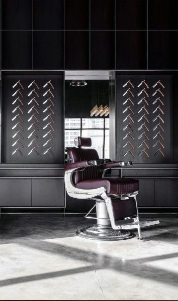 Straight Razor Wall Decor Barber Shop Designs
