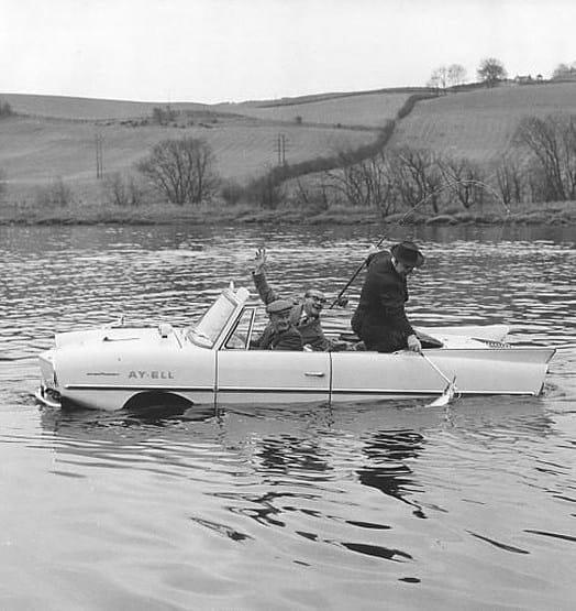 Strange Car Driving On Water
