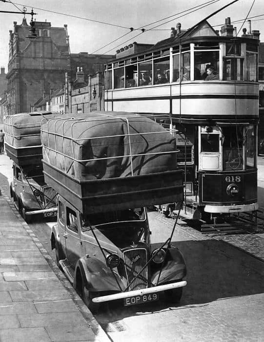 Strange Car With Giant Roof Rack