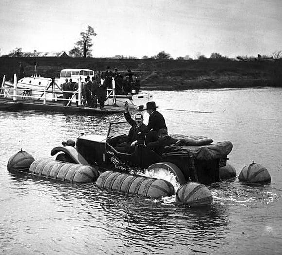 Strange Floating Car In Water