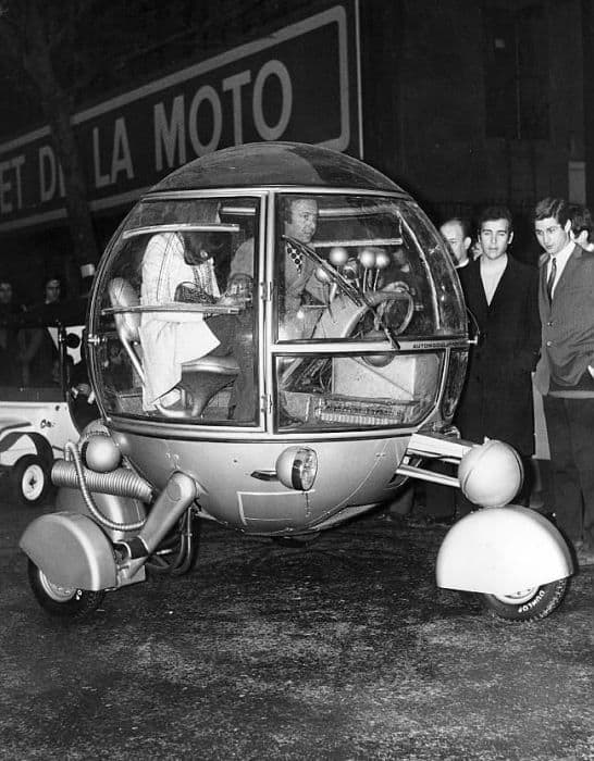 Strange Glass Ball Car