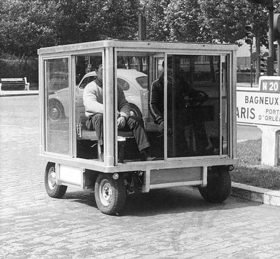 Strange Square Car With Box Design Windows