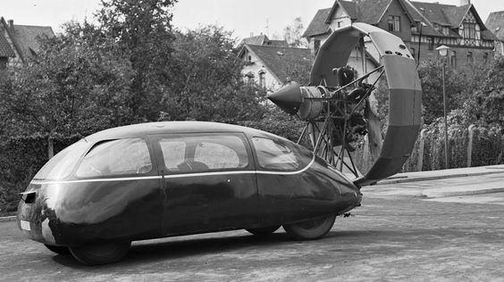 Strange Wind Powered Car
