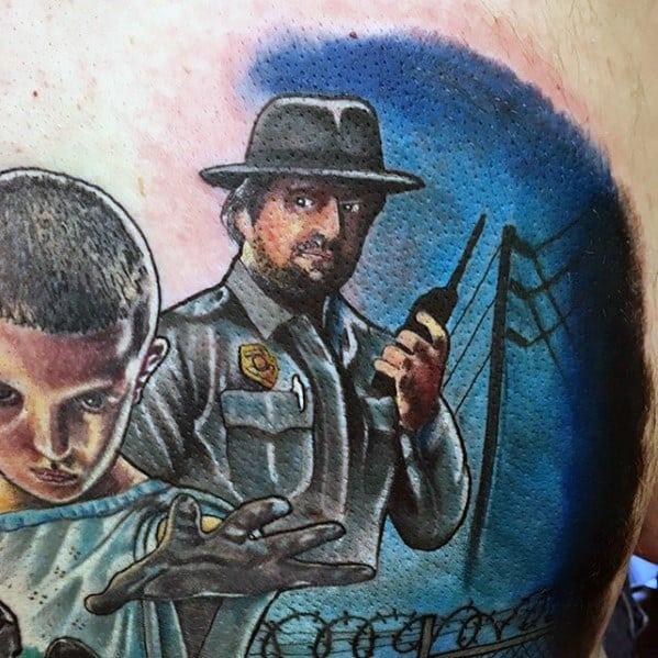 Stranger Things Mens Tattoo Designs