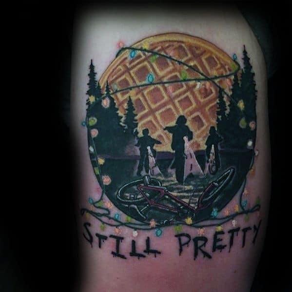Stranger Things Tattoo Design On Man