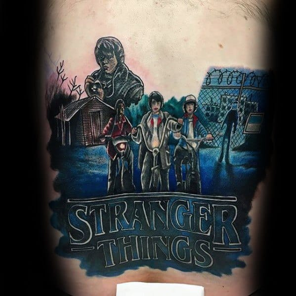 Stranger Things Tattoo Ideas For Males