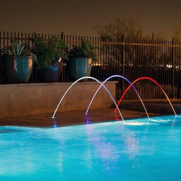 Stream Led Backyard Ideas For Pool Lighting