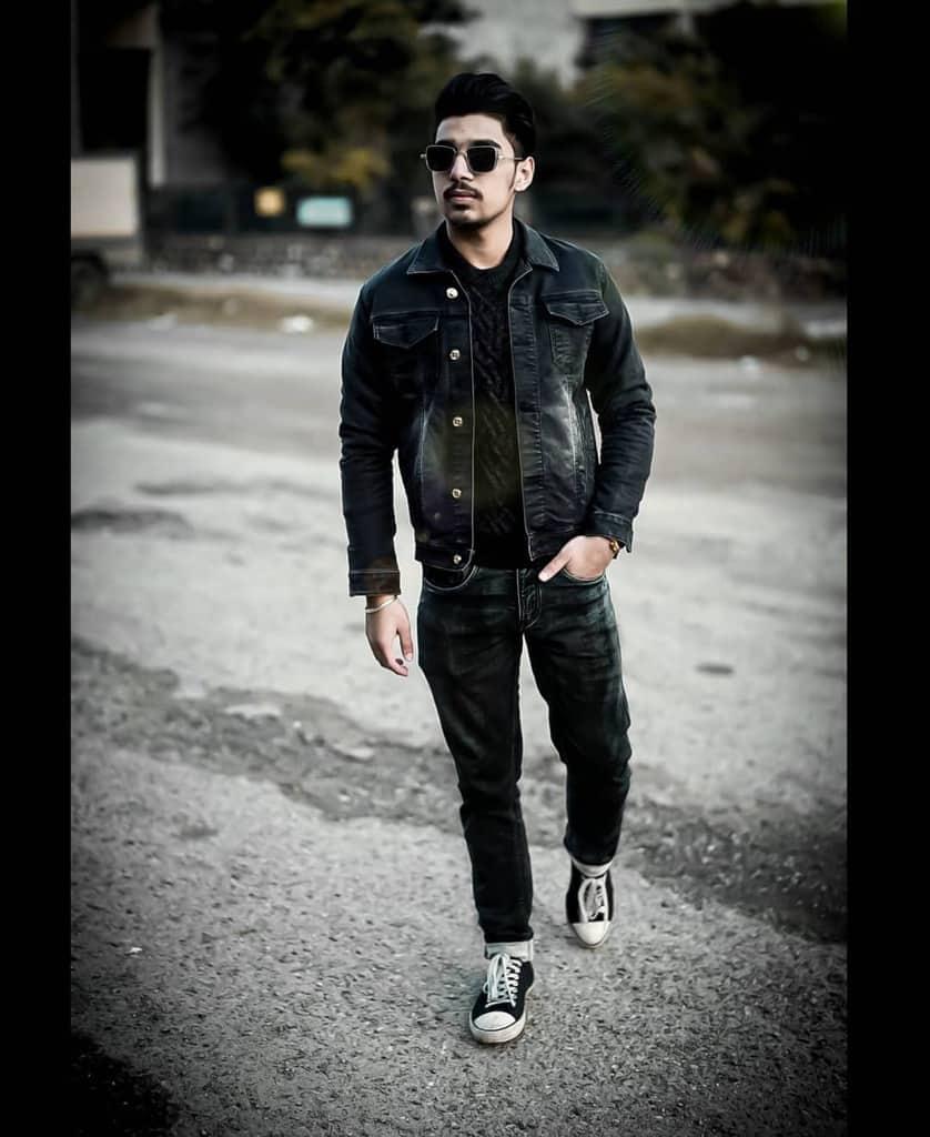 Tenue de veste en jean Street Wear