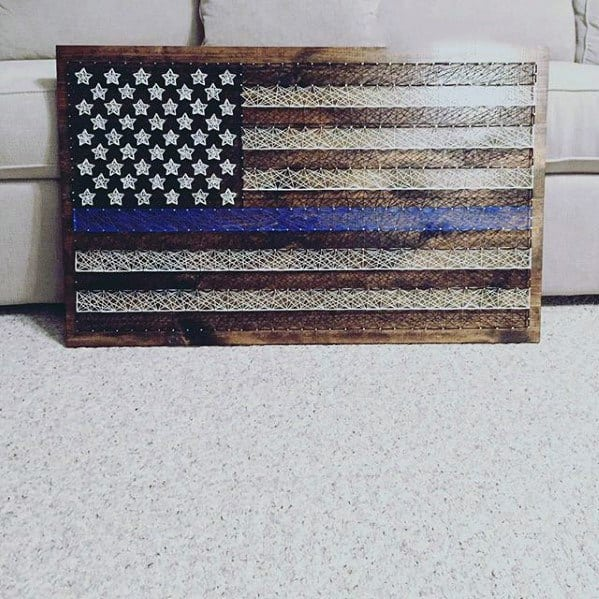 String American Flag Diy Man Cave Ideas