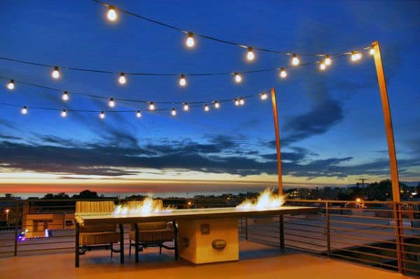 String Globe Lights Over Deck Lighting Ideas
