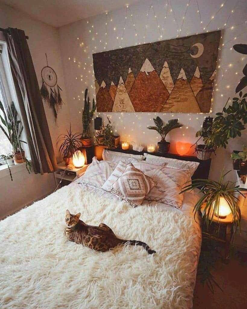 string lights and mood lighting cozy bedroom ideas allhomeaesthetics