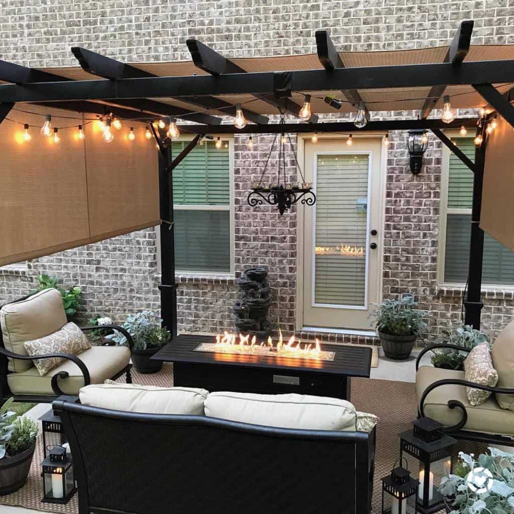 string lights patio lighting ideas lifewithlaurenann