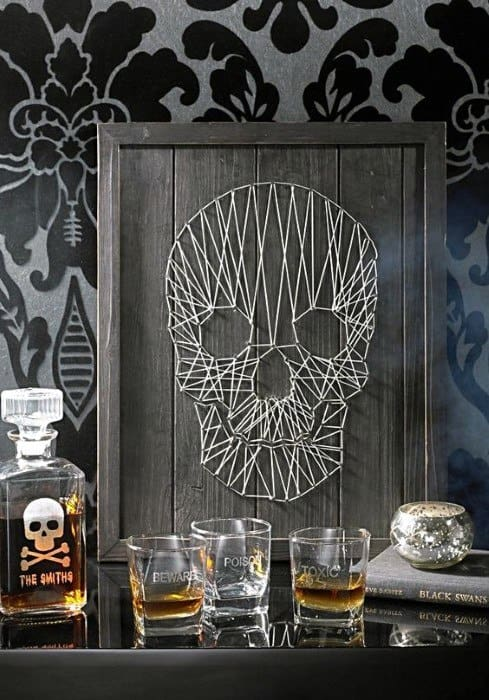 String Skull Wall Art Cheap Man Cave Ideas