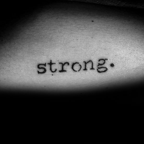 Strong Guys Simple Strength Tattoo On Arm