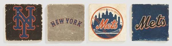 New York Mets Marble Coasters