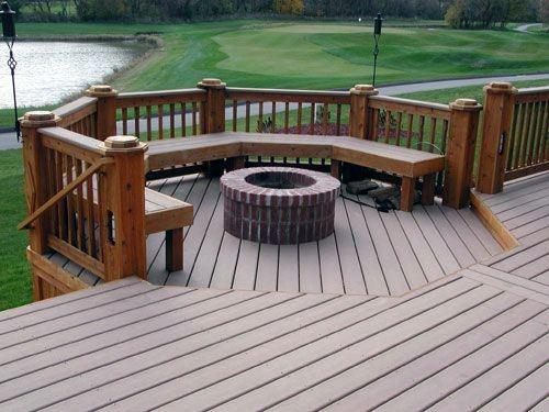 Stunning Backyard Deck Fire Pit Designs