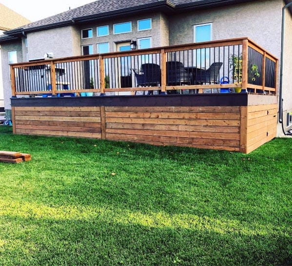 Stunning Backyard Deck Skirting Designs