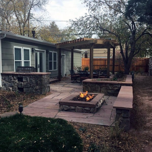 Stunning Backyard Flagstone Patio Designs