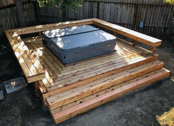 Stunning Backyard Hot Tub Deck Designs