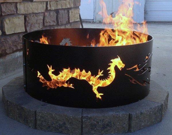 Stunning Backyard Metal Dragon Fire Pit Designs