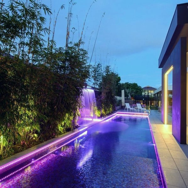 Stunning Backyard Pool Lighting Designs