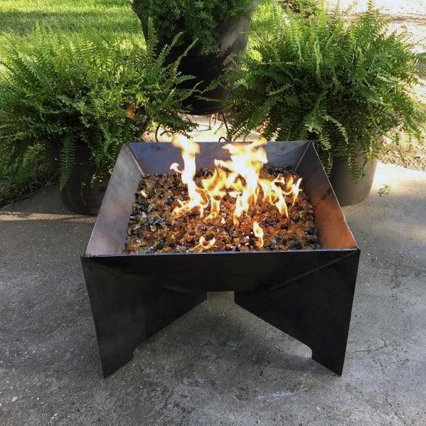 Stunning Backyard Steel Fire Pit Designs