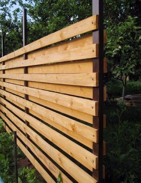 Stunning Backyard Wooden Fence Designs