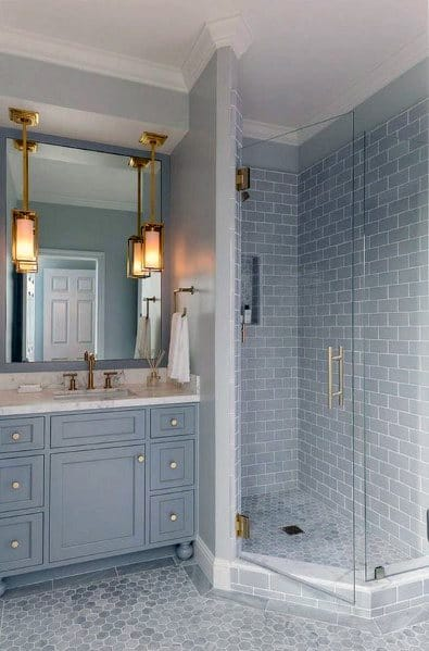Stunning Bathroom Corner Shower Designs