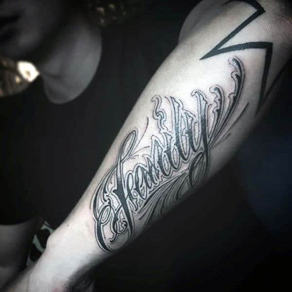 Stunning Black Family Tattoo Mens Forearms