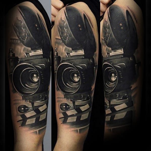 Stunning Camera Tattoo Male Arms