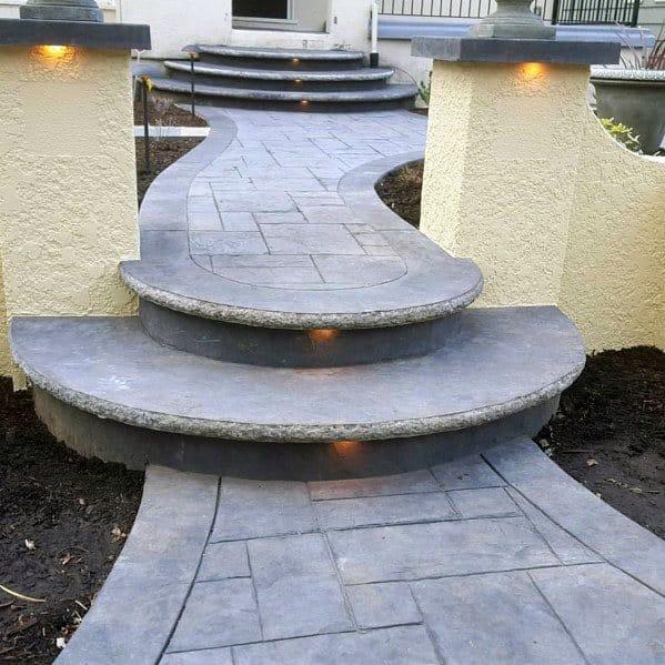 Stunning Exterior Concrete Walkway Designs