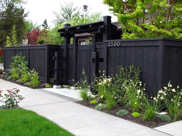 Stunning Exterior Front Yard Fence Designs