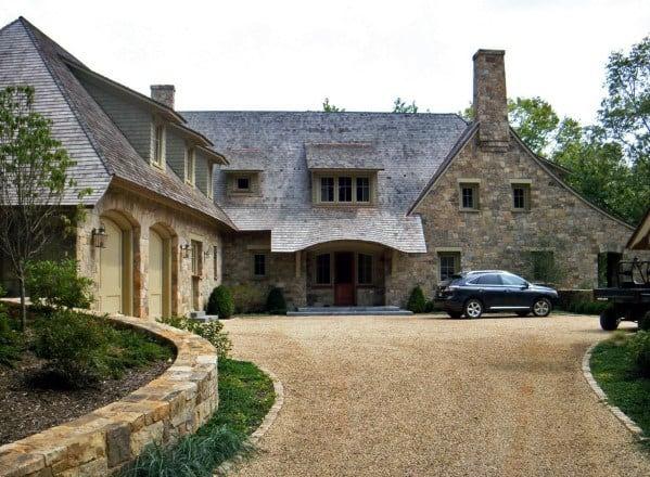 Stunning Exterior Gravel Driveway Designs