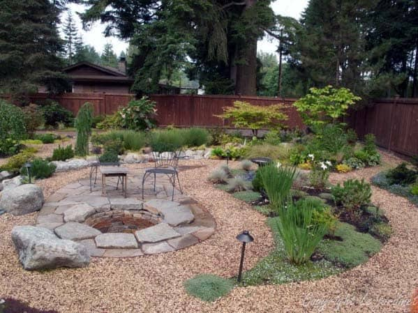 Top 60 Best Gravel Landscaping Ideas - Pebble Designs on Backyard Pebbles Design id=38671