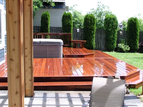 Stunning Exterior Hot Tub Deck Designs