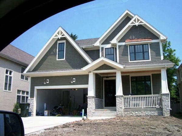 Stunning Exterior House Paint Designs Grey