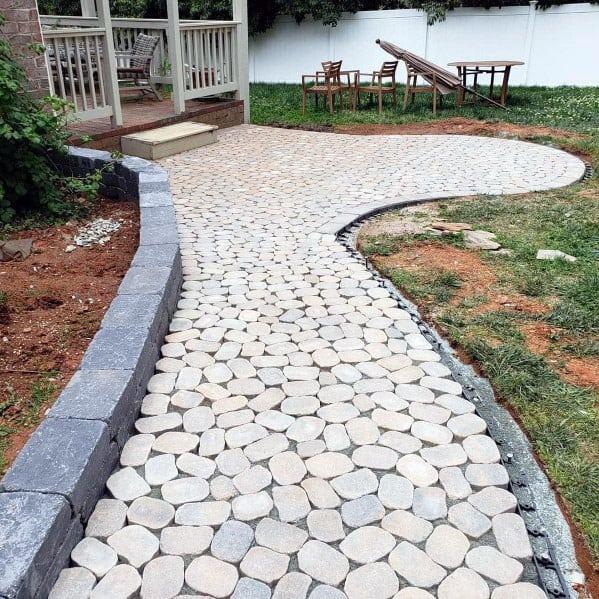 Stunning Exterior Paver Walkway Designs