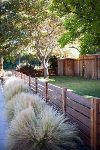 Stunning Exterior Short Wood Fence Designs