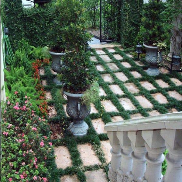 Stunning Exterior Stone Walkway Designs