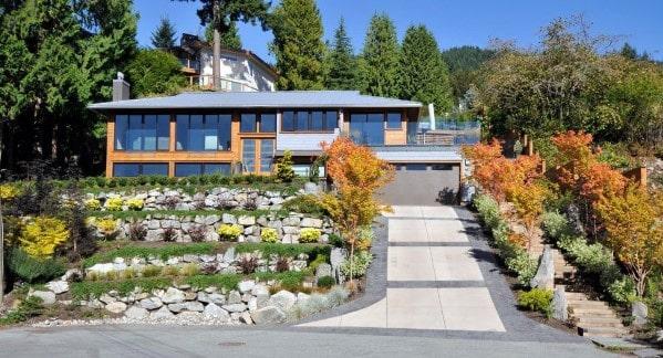 Stunning Front Yard Concrete Driveway Designs